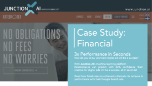 Junction AI Case Study Finance AI Optimized Google Search Ads